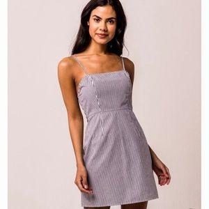 Blue and White Stripped Mini Dress